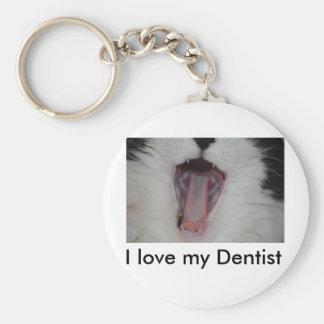 Say Ah/Dentist Humor Basic Round Button Keychain