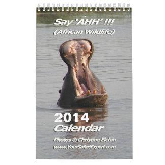Say 'AHH'!!! - African Wildlife Calendar 2014 1-Pg