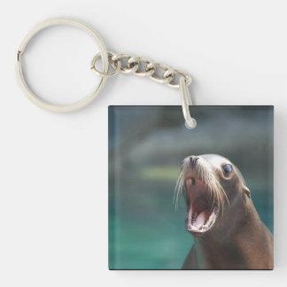 Say Ahhhhh! Single-Sided Square Acrylic Keychain