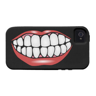 Say CHEESE! Big Smile Cartoon Mouth Vibe iPhone 4 Cases