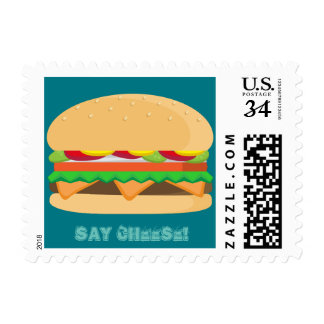 Say Cheese - Burger! Postage