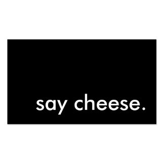 say cheese. Double-Sided standard business cards (Pack of 100)