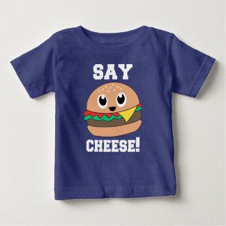 Say Cheese! Cute Slogan Burger Tee Tshirt