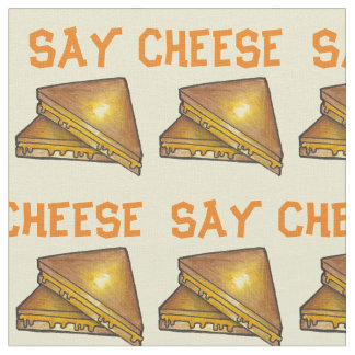 Say Cheese Grilled Toasted Cheese Sandwich Fabric