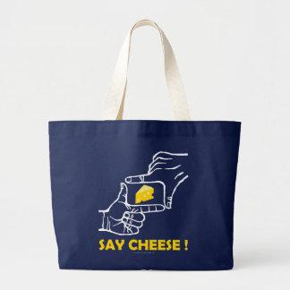 Say cheese ! large tote bag
