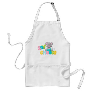 Say Cheese Mouse Gift For Kids Adult Apron