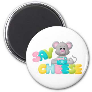 Say Cheese Mouse Gift For Kids Magnets