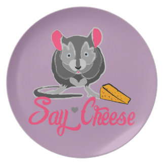 Say Cheese Mouse Plate