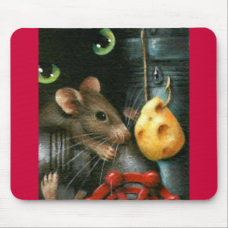 SAY CHEESE     Original Painting Mouse Pad