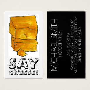 Sayings photography business cards templates zazzle photographer photography cheddar food business card colourmoves