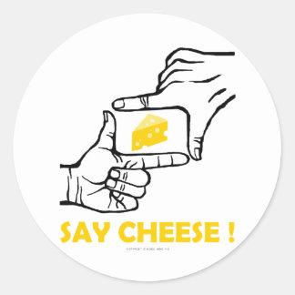 Say cheese ! round sticker