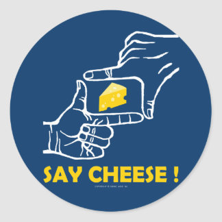 Say cheese ! round stickers
