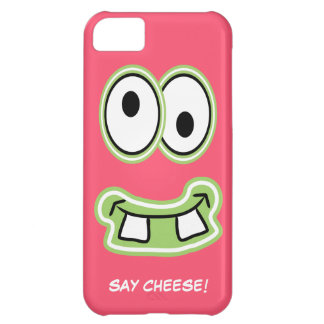 Say Cheese! Silly Cute Monster Iphone Face Case For iPhone 5C