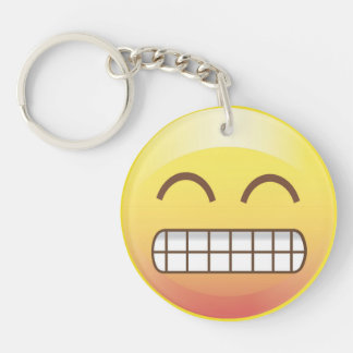 Say Cheese Smiley Selfie Emoji Face Keychain