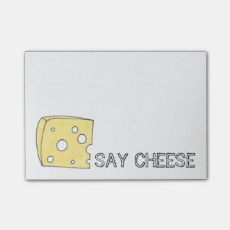 Say Cheese Swiss Cheese Foodie Post Its Post-it Notes