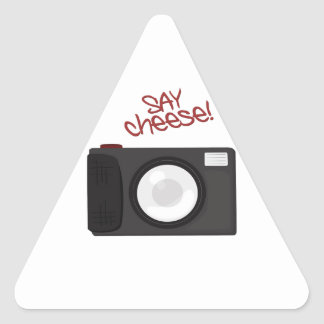 Say Cheese Triangle Sticker