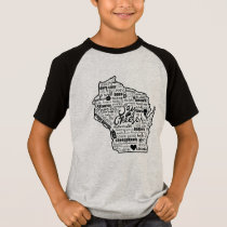 Say Cheese!  Wisconsin State Kids Tee