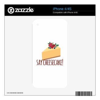Say Cheesecake iPhone 4 Skins