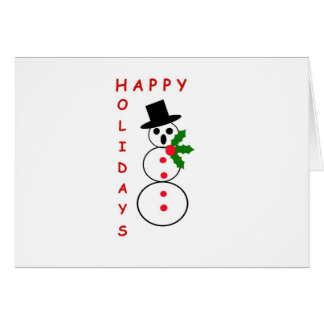 "Say ""Happy Holidays"" with these Snowman gift items Card"