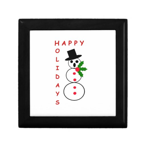"""Say """"Happy Holidays"""" with these Snowman gift items Trinket Boxes"""