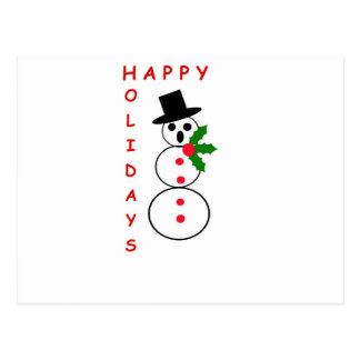 """Say """"Happy Holidays"""" with these Snowman gift items Postcard"""