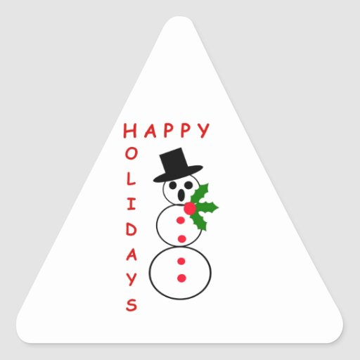 """Say """"Happy Holidays"""" with these Snowman gift items Stickers"""