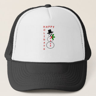 "Say ""Happy Holidays"" with these Snowman gift items Trucker Hat"