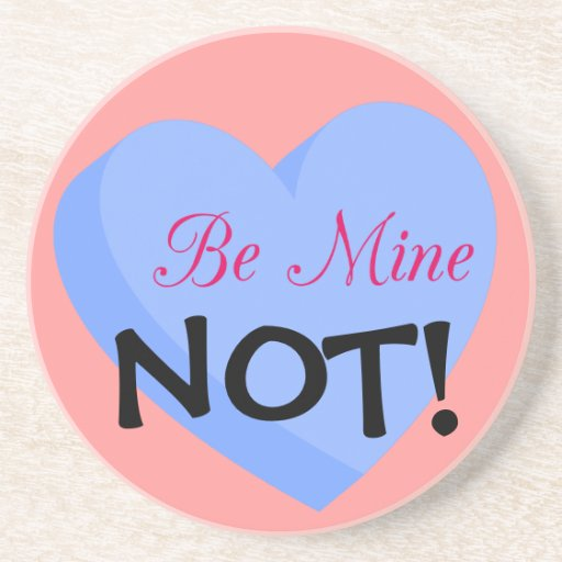 Say Happy Valentines with Rejection & Breakup Beverage Coasters