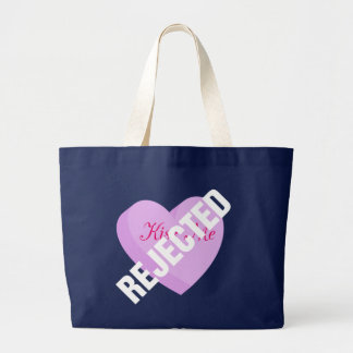Say Happy Valentines with Rejection & Breakup Large Tote Bag