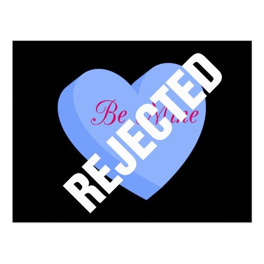 Say Happy Valentines with Rejection & Breakup Postcard
