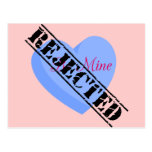 Say Happy Valentines with Rejection & Breakup Post Card
