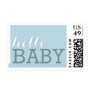 Say Hello Baby Boy Birth & Shower Postage