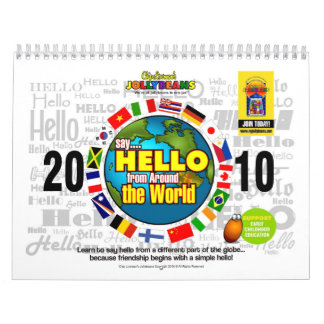 Say HELLO from Around the World Calendar