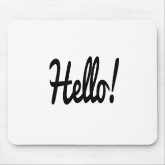 say-hello mouse pad