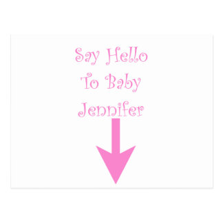 SAY HELLO TO BABY (customized).png Postcard