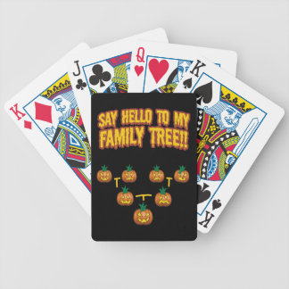 Say Hello To My family Tree Bicycle Playing Cards