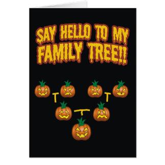 Say Hello To My Family Tree Card