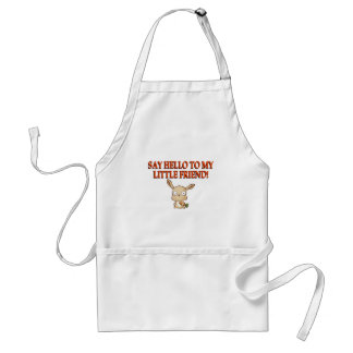Say Hello To My Little Friend Adult Apron