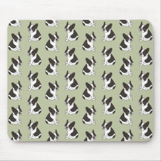 Say hello to the cute double hooded pied Frenchie Mouse Pad