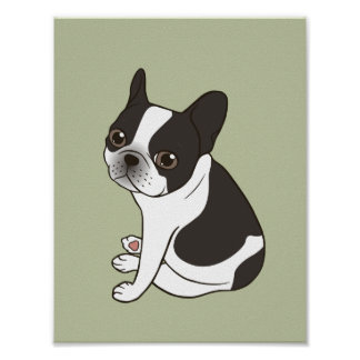 Say hello to the cute double hooded pied Frenchie Poster