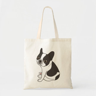 Say hello to the cute double hooded pied Frenchie Tote Bag
