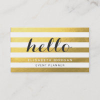 Say Hello to Your Clients - Stylish Gold Stripes