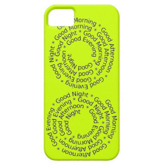 Say Hi Hello Good Morning Afternoon Evening Night iPhone SE/5/5s Case