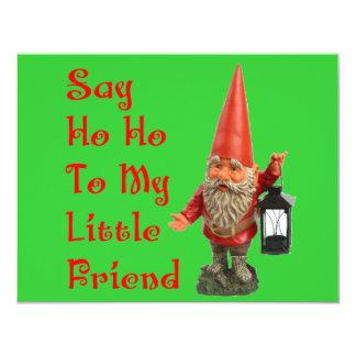 Say Ho Ho To My Little Friend Santa Christmas Card