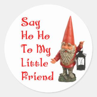 Say Ho Ho To My Little Friend Santa Christmas Stickers