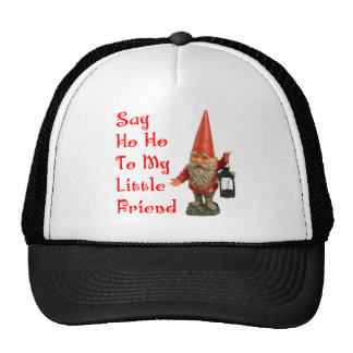 Say Ho Ho To My Little Friend Santa Christmas Trucker Hat