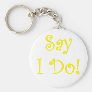 Say I Do Keychain