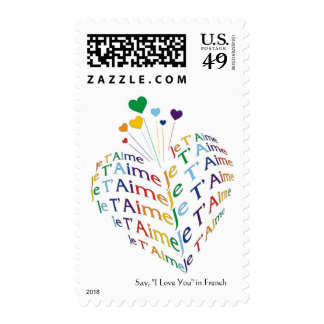 """Say, """"I Love You"""" in French (medium size) Postage"""