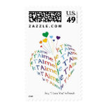 """Say, """"I Love You"""" in French (medium size) Stamps"""