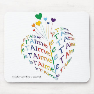 "Say, ""I Love You"" in French /  Mousepad"